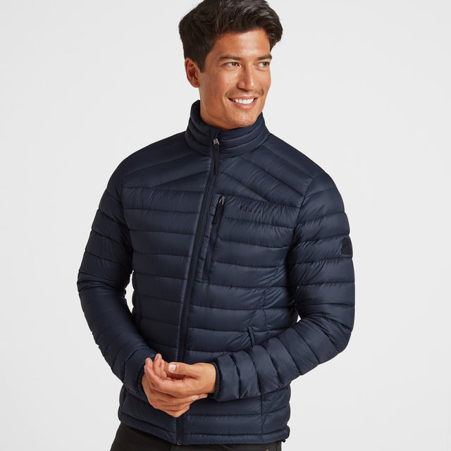 Drax Mens Funnel Down Jacket - Navy image 1