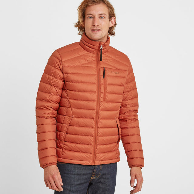 Drax Mens Funnel Down Jacket - Burnt Orange image 1