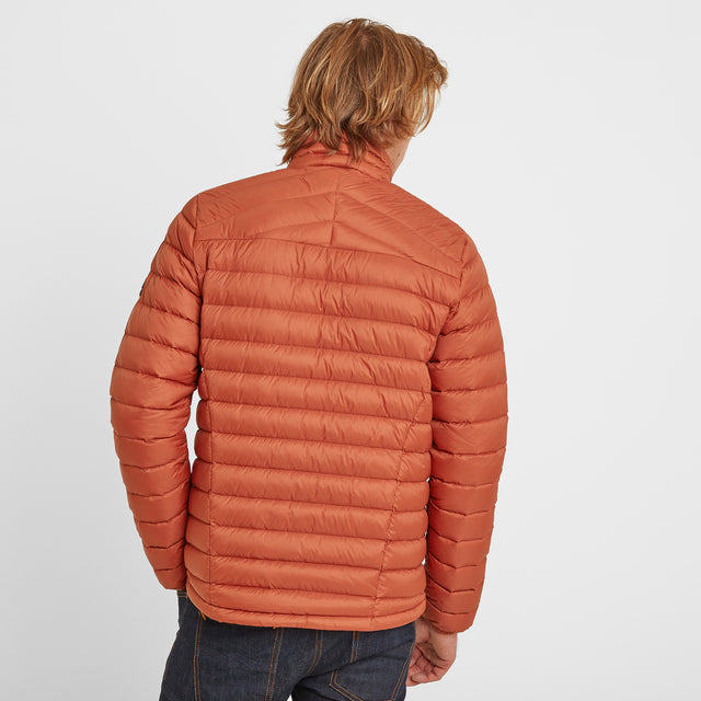 Drax Mens Funnel Down Jacket - Burnt Orange image 2