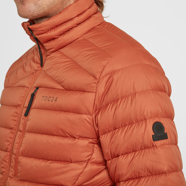 Drax Mens Funnel Down Jacket - Burnt Orange image 3
