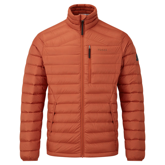 Drax Mens Funnel Down Jacket - Burnt Orange image 5