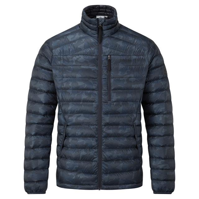 Drax Mens Funnel Down Jacket - Navy Camo image 3