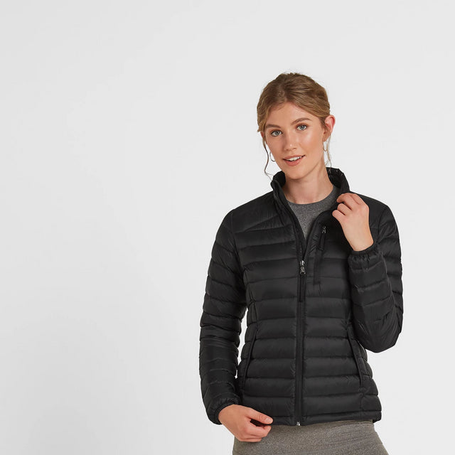 Drax Womens Funnel Down Jacket - Black image 1