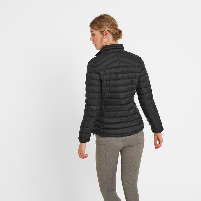 Drax Womens Funnel Down Jacket - Black image 3