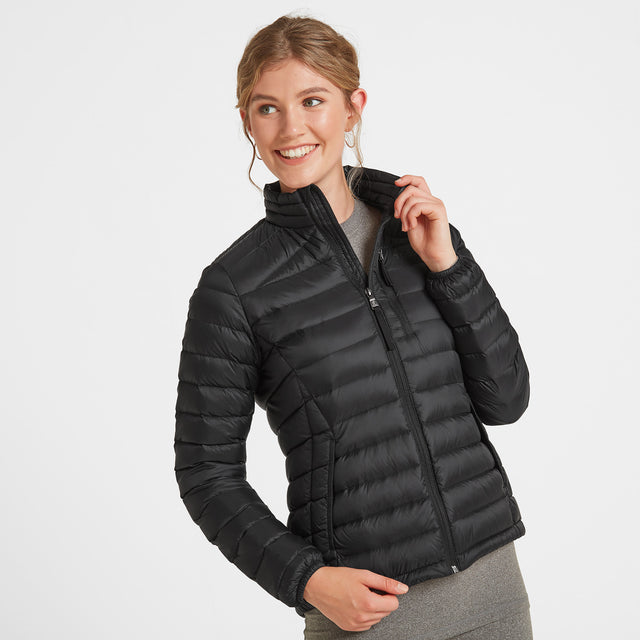 Drax Womens Funnel Down Jacket - Black image 2
