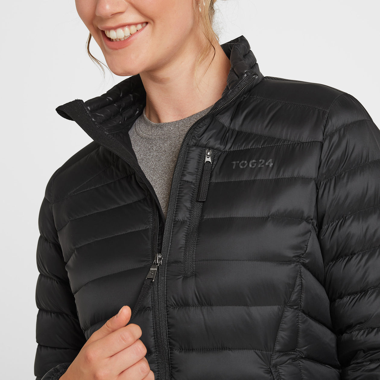 Drax Womens Funnel Down Jacket - Black image 4