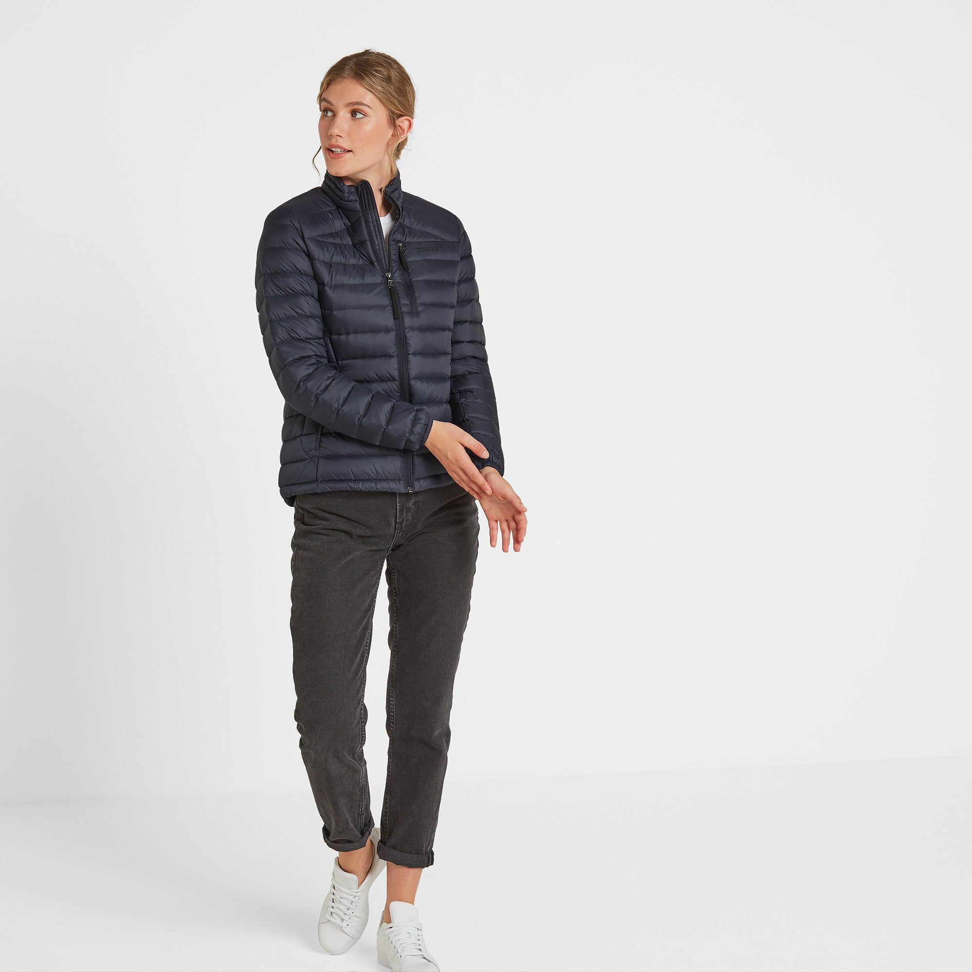 Drax Womens Funnel Down Jacket - Navy