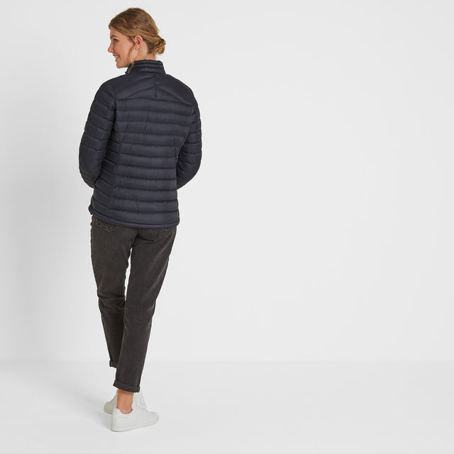 Drax Womens Funnel Down Jacket - Navy image 2