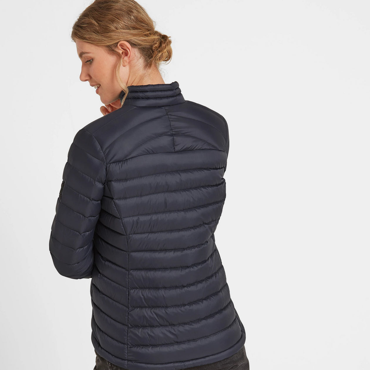 Drax Womens Funnel Down Jacket - Navy image 4