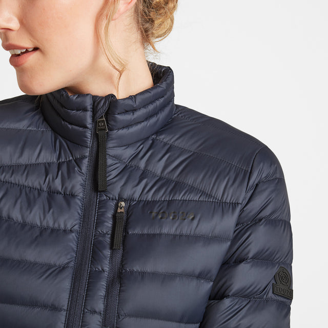 Drax Womens Funnel Down Jacket - Navy image 5