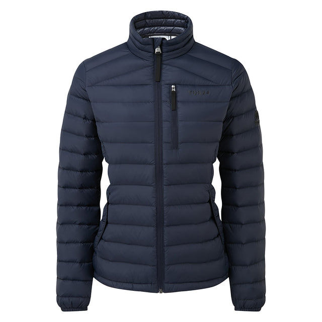 Drax Womens Funnel Down Jacket - Navy image 6