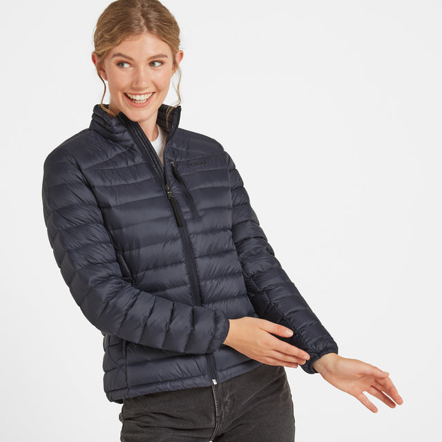 Drax Womens Funnel Down Jacket - Navy image 1