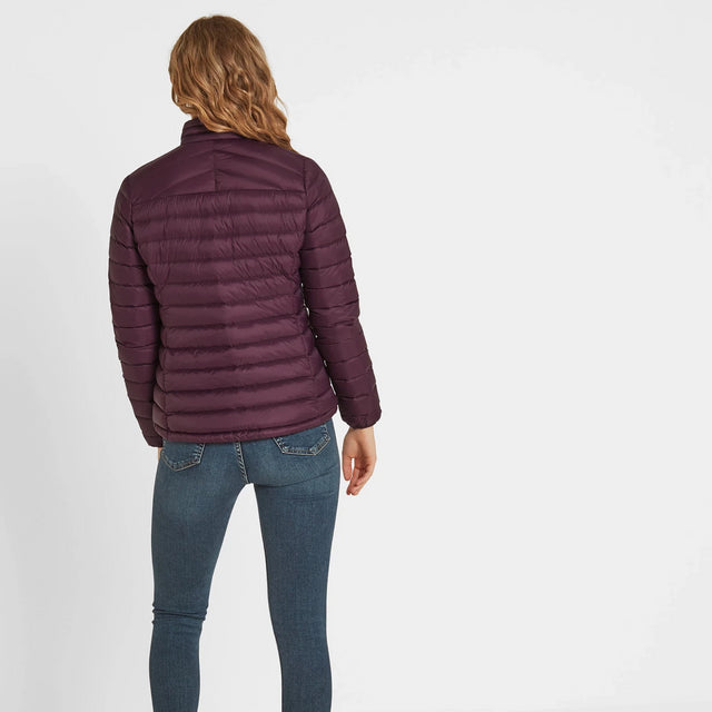 Drax Womens Funnel Down Jacket - Aubergine image 3
