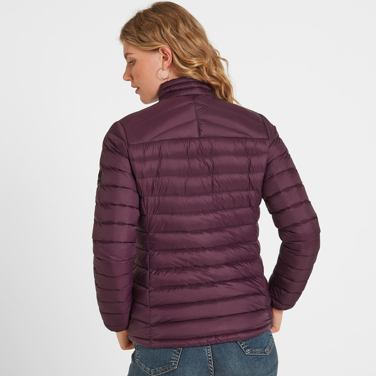 Drax Womens Funnel Down Jacket - Aubergine image 4