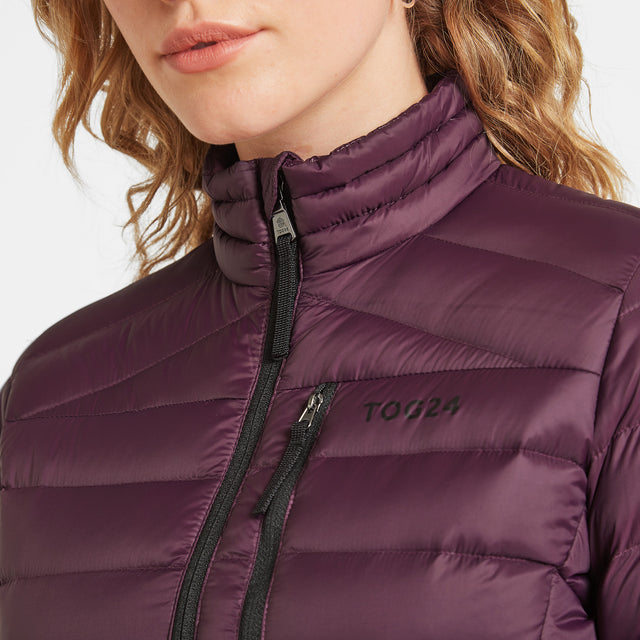 Drax Womens Funnel Down Jacket - Aubergine image 5