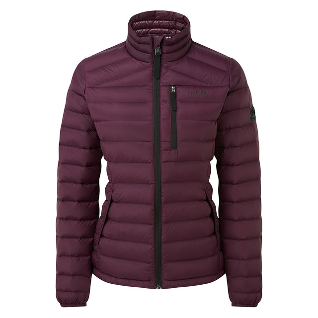 Drax Womens Funnel Down Jacket - Aubergine image 6
