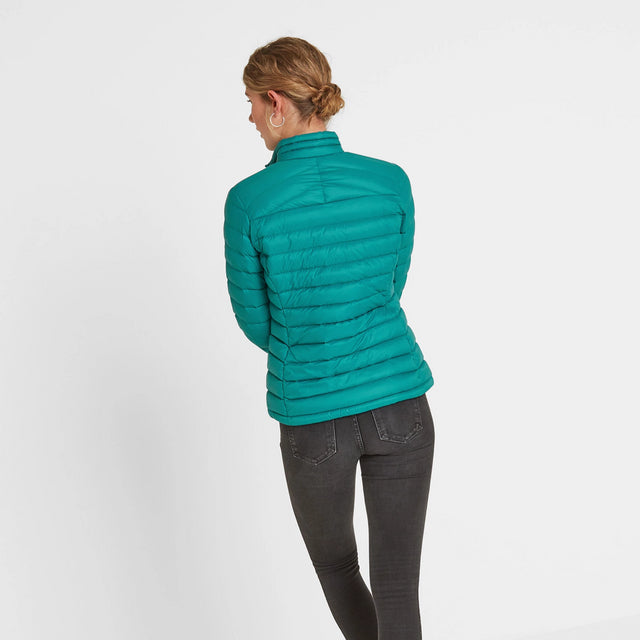 Drax Womens Funnel Down Jacket - Topaz image 2