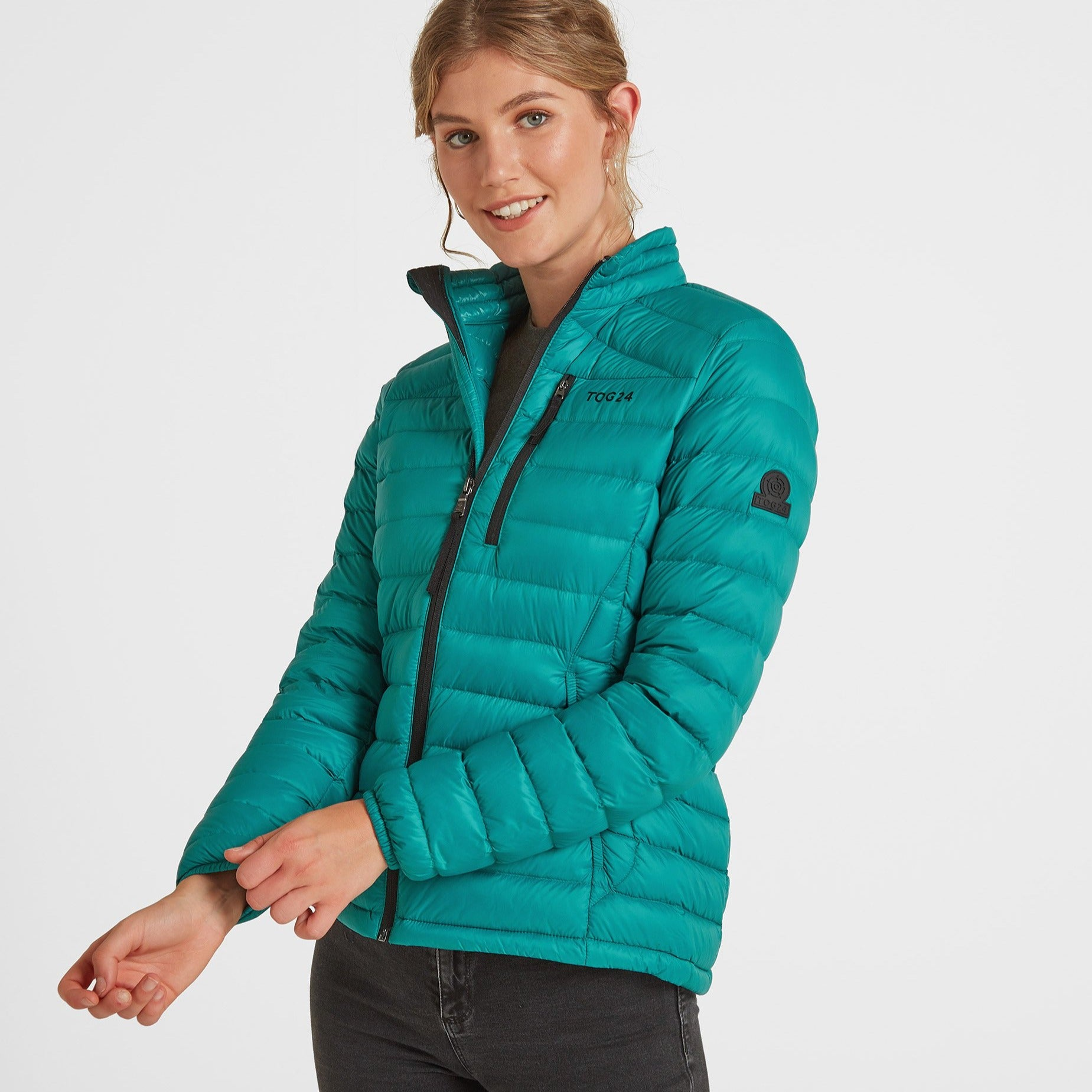 Drax Womens Funnel Down Jacket - Topaz