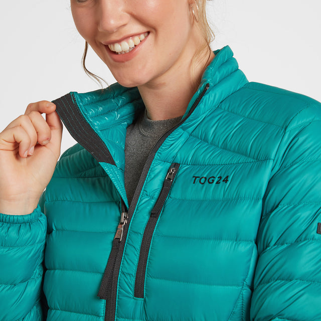 Drax Womens Funnel Down Jacket - Topaz image 5