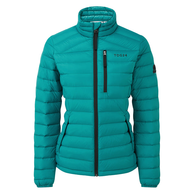 Drax Womens Funnel Down Jacket - Topaz image 6
