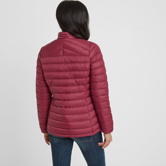 Drax Womens Funnel Down Jacket - Raspberry image 2
