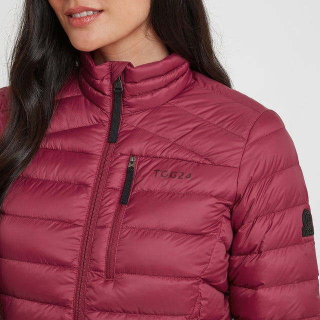 Drax Womens Funnel Down Jacket - Raspberry image 5