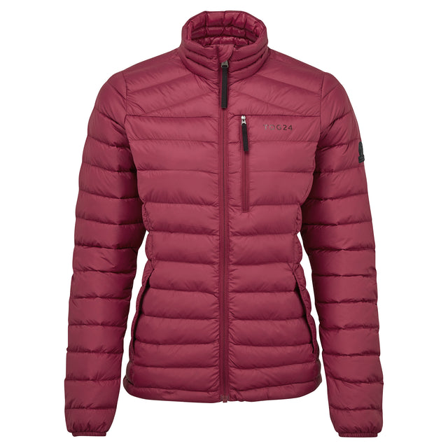 Drax Womens Funnel Down Jacket - Raspberry image 3