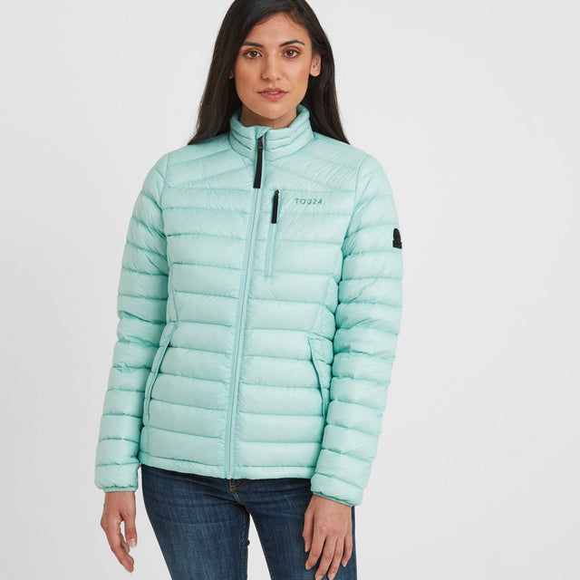 Drax Womens Funnel Down Jacket - Mint Blue image 1