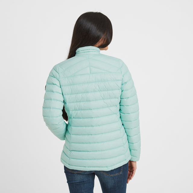 Drax Womens Funnel Down Jacket - Mint Blue image 2