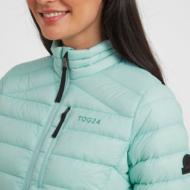 Drax Womens Funnel Down Jacket - Mint Blue image 5