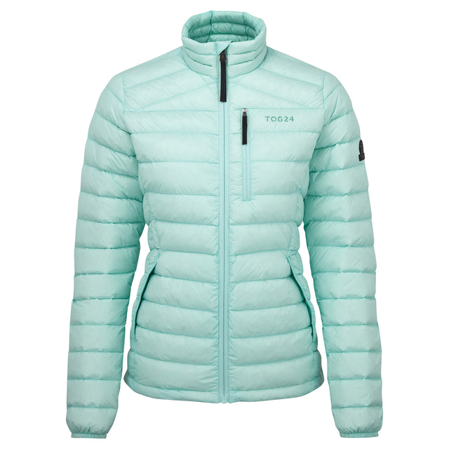 Drax Womens Funnel Down Jacket - Mint Blue image 3