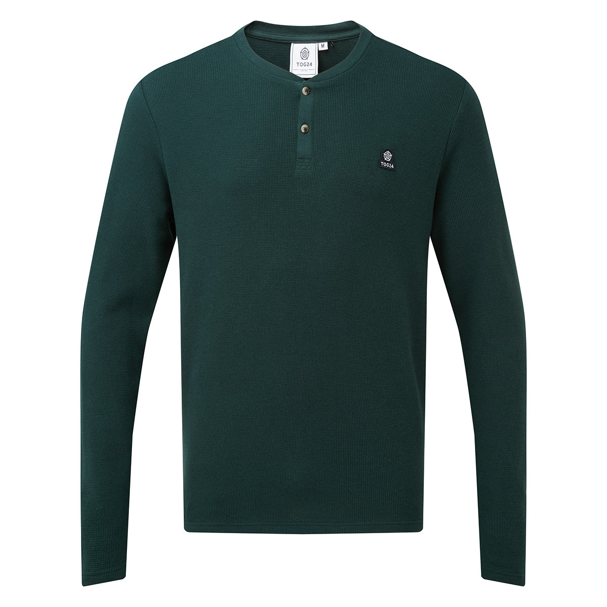 Drewton Mens Grandad Collar T-Shirt - Dark Teal image 4