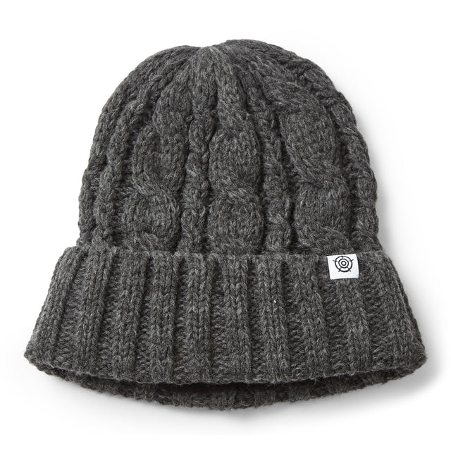 Drury Knit Beanie Hat - Dark Grey Marl