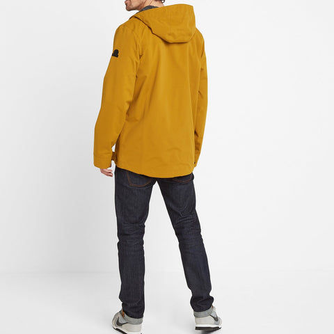 Dunsel Mens Waterproof Jacket - Mustard