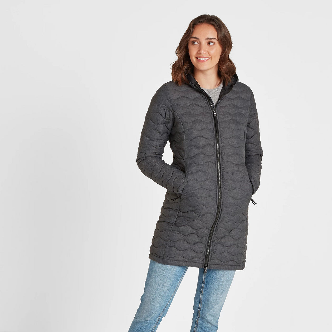 Eastby Womens Thermal Jacket - Grey Marl image 4