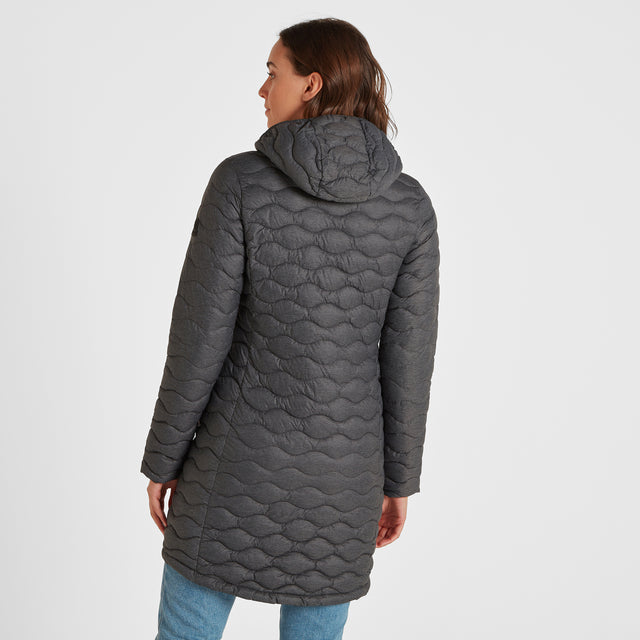 Eastby Womens Thermal Jacket - Grey Marl image 2