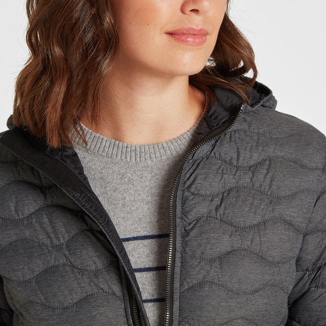 Eastby Womens Thermal Jacket - Grey Marl image 3