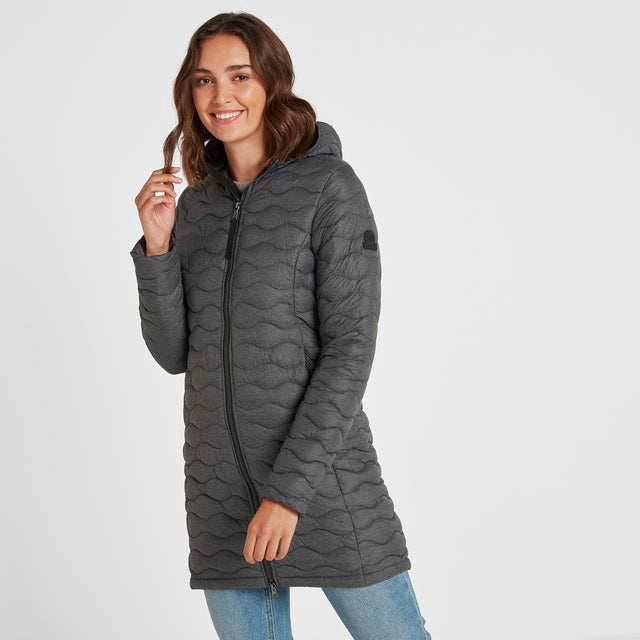Eastby Womens Thermal Jacket - Grey Marl image 1