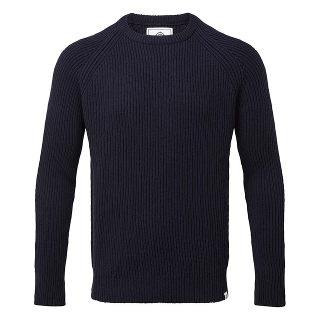 Edwin Mens Ribbed Crew Neck Jumper - Navy image 3