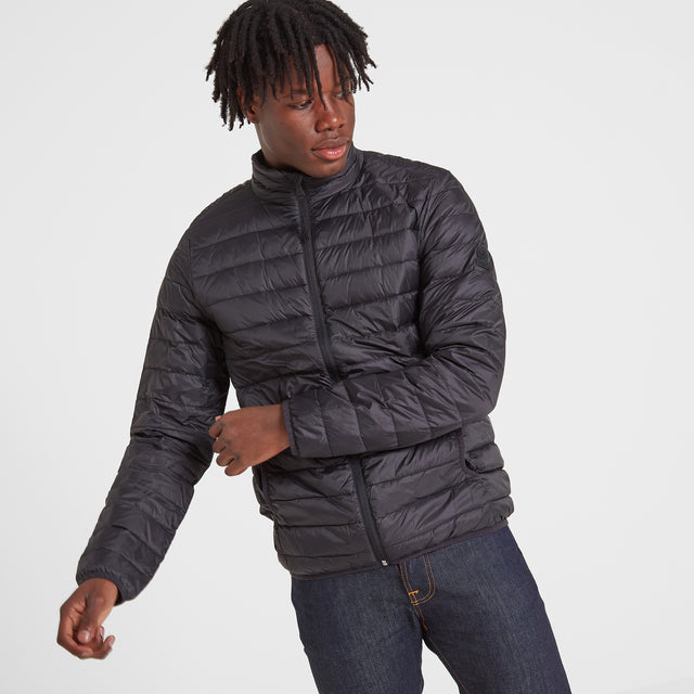 Elite Mens Down Jacket - Black image 1