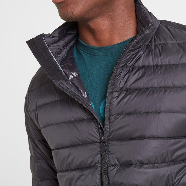 Elite Mens Down Jacket - Black image 3