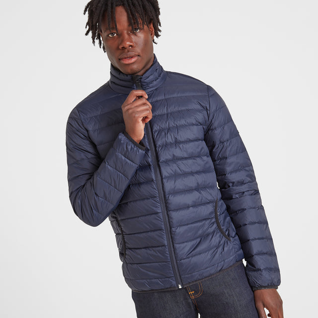 Elite Mens Down Jacket - Navy image 5