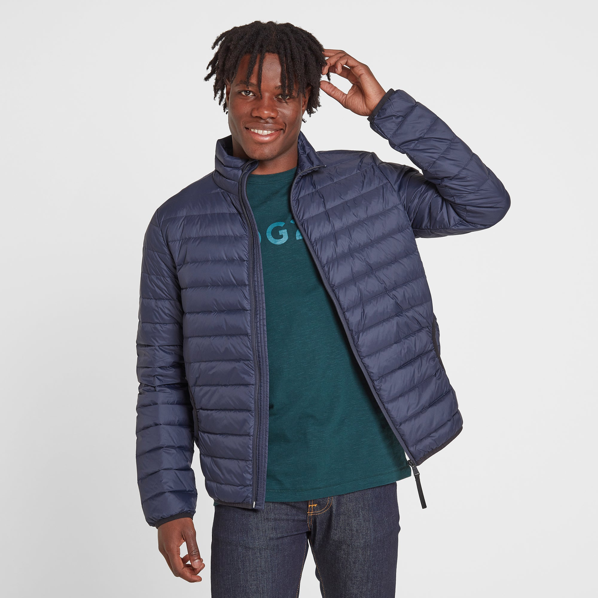 Elite Mens Down Jacket - Navy