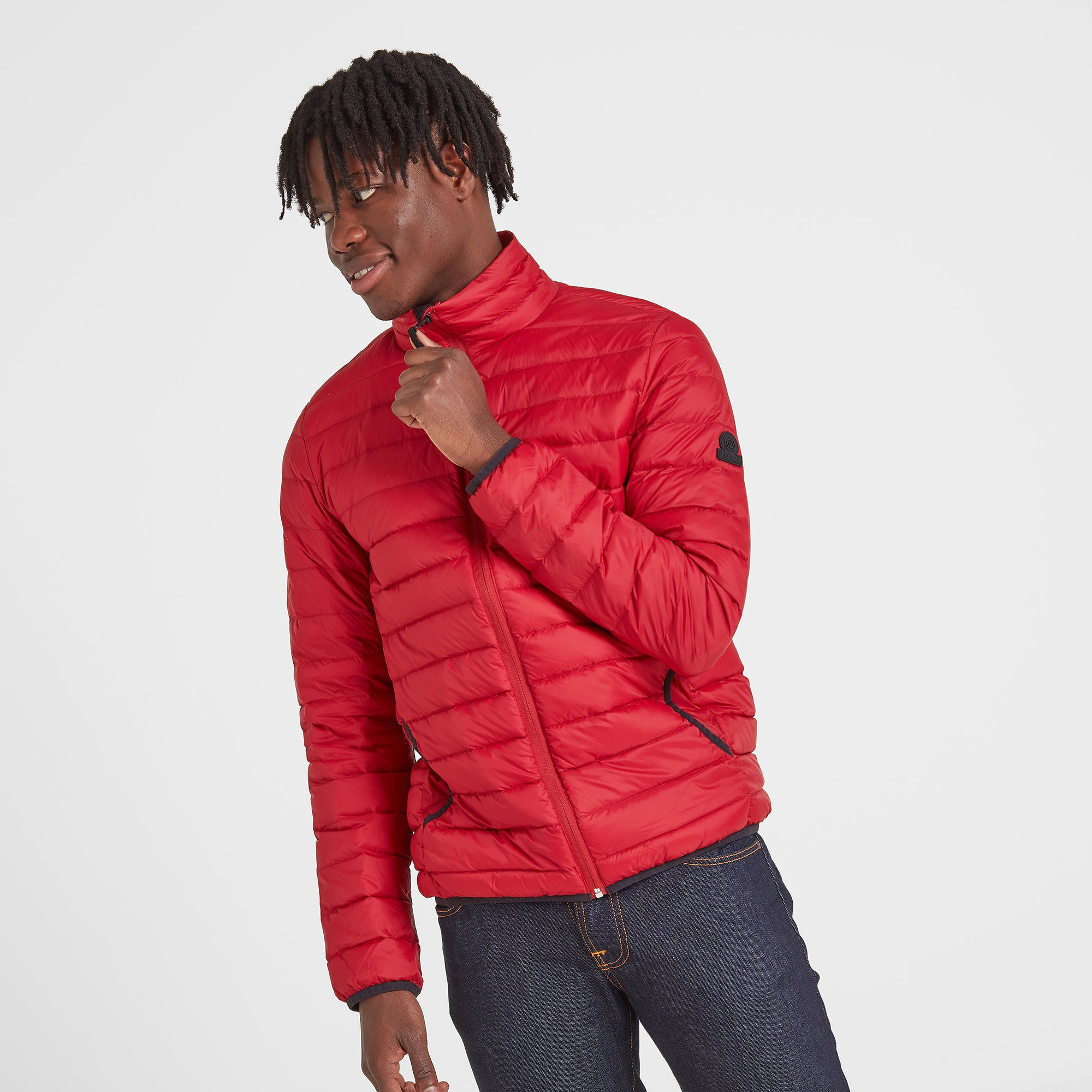Elite Mens Down Jacket - Chilli