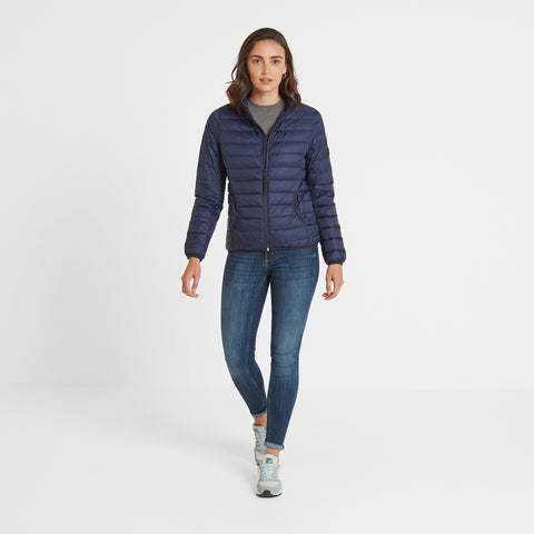 Elite Womens Down Jacket - Navy
