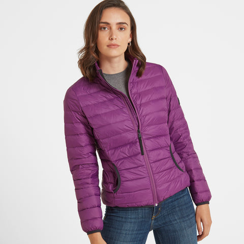 Elite Womens Down Jacket - Grape