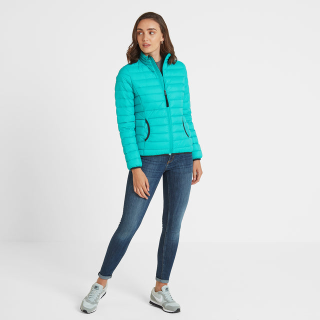 Elite Womens Down Jacket - Ceramic Blue image 3