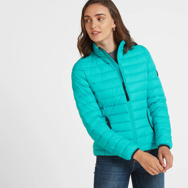 Elite Womens Down Jacket Ceramic Blue