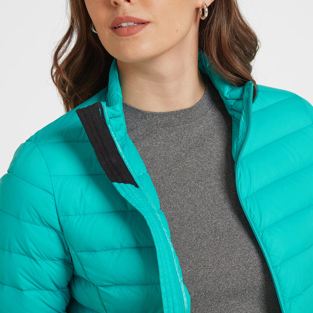Elite Womens Down Jacket - Ceramic Blue image 5