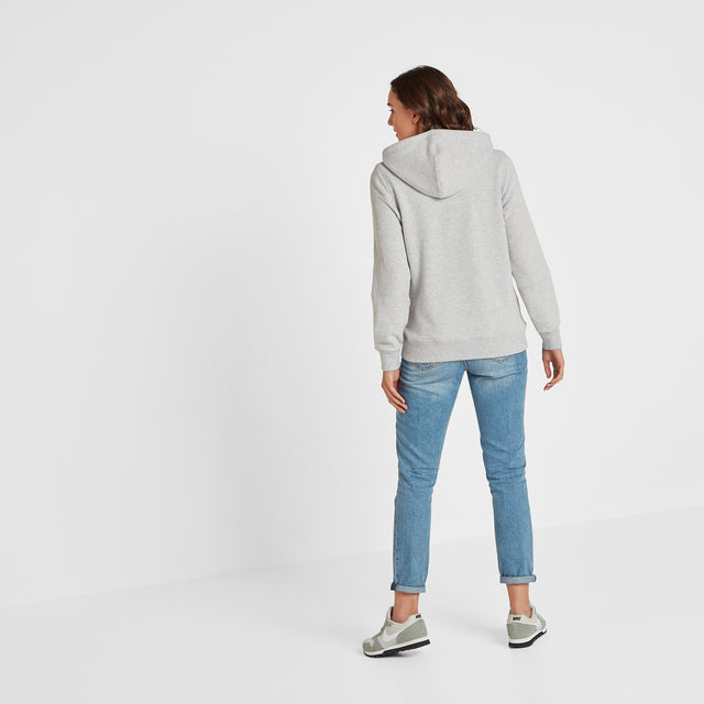 Esme Womens Zip Sweat - Light Grey Marl image 2